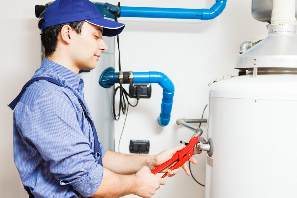 affordable water heater repair technician working in calgary